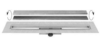 Easy Drain Compact 50 TAF Wall douchegoot enkele plaat 100cm m. zero/tegel design rooster RVS