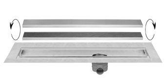 Easy Drain Multi TAF douchegoot enkele plaat 90cm m. zero/tegel design rooster RVS