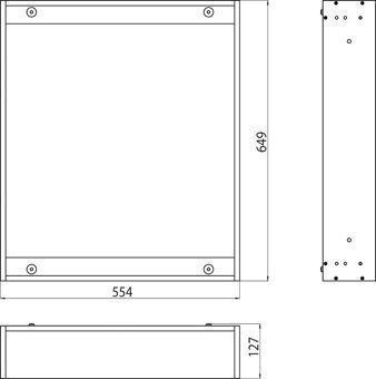Emco Asis Premium montageraam voor inbouw spiegelkast 60cm