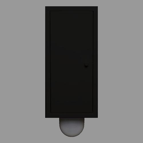 Etsero Brush-up inbouw toiletborstel mat zwart te koop met voordeel