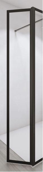 Galva Free Time draaibaar zijpaneel 34.5x200cm met zwarte profielen