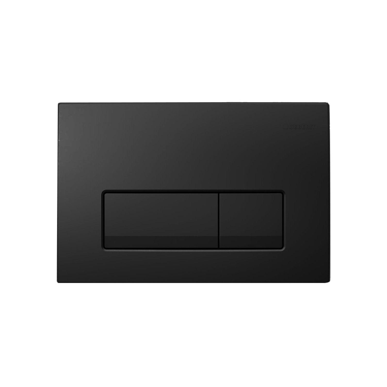 Geberit Delta bedieningsplaat Delta 51 t.b.v. UP100 mat zwart
