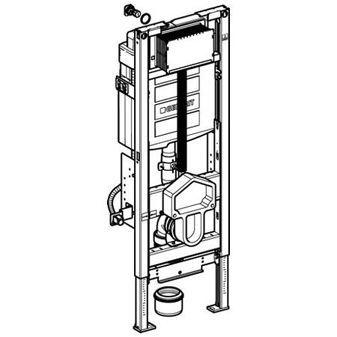 Geberit Duofix WC-element m. Sigma reservoir 12cm (UP320) 8cm in hoogte verstelbaar H112cm z. bedien