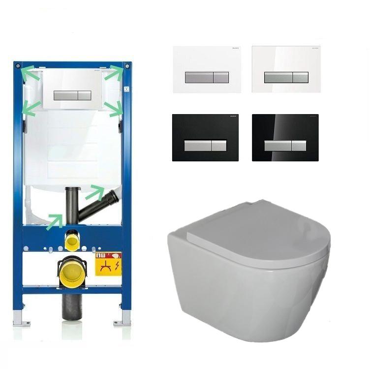 Geberit Duofresh Jama Compact complete toiletset met randloze toiletpot incl. softclose zitting kopen doe je het voordeligst hier