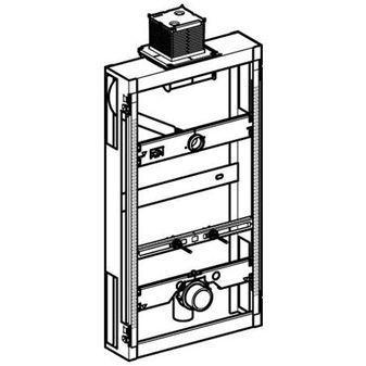 Geberit GIS urinoir element m. planchet bediening universeel H98cm z. urinoirsturing