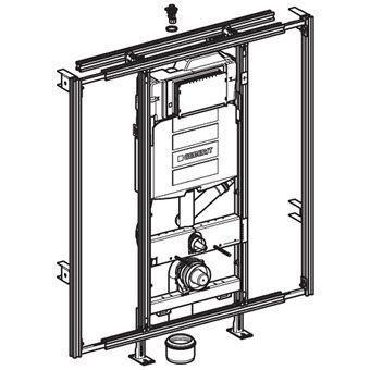 Geberit GISeasy WC-element m. Sigma inbouwreservoir UP320 voorbereid op geurafzuiging H120cm z. bedi
