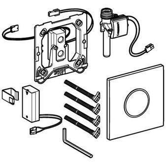 Geberit HyTronic urinoir stuursysteem Sigma 10 infrarood batterij 13x13cm wit/mat verchr./mat verchr.