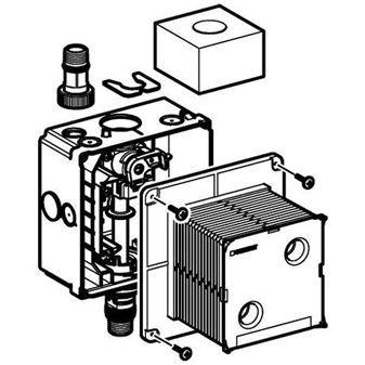 Geberit inbouwkast voor urinoir stuursysteem