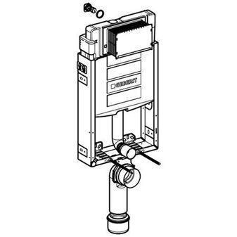 Geberit Kombifix WC-element H108 wandmodel m. Sigma inbouwreservoir 12cm afvoer Ø90/110mm z. bedieningsplaat frontbediend