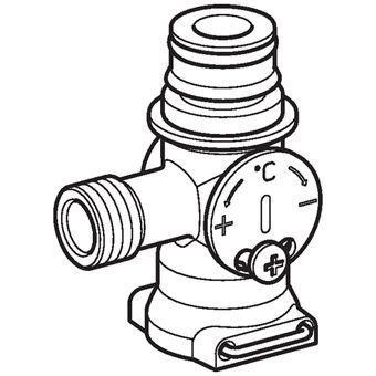 GEBERIT mengventiel voor automatische wastafelkraan (242572221)
