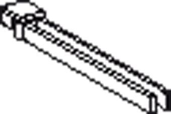Geberit Monolith dubbele handdoekhouder 31cm glans verchroomd