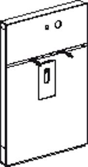 Geberit Monolith wastafel element H114 m. kast links t.b.v. inbouw wandkraan 10 11cm wit glas alu