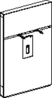Geberit Geberit Monolith wastafel element H114 m. kast rechts t.b.v. wastafelkraan staand wit glas