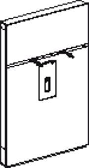 Geberit Monolith wastafel element H114 m. kast rechts t.b.v. wastafelkraan staand zwart glas alu