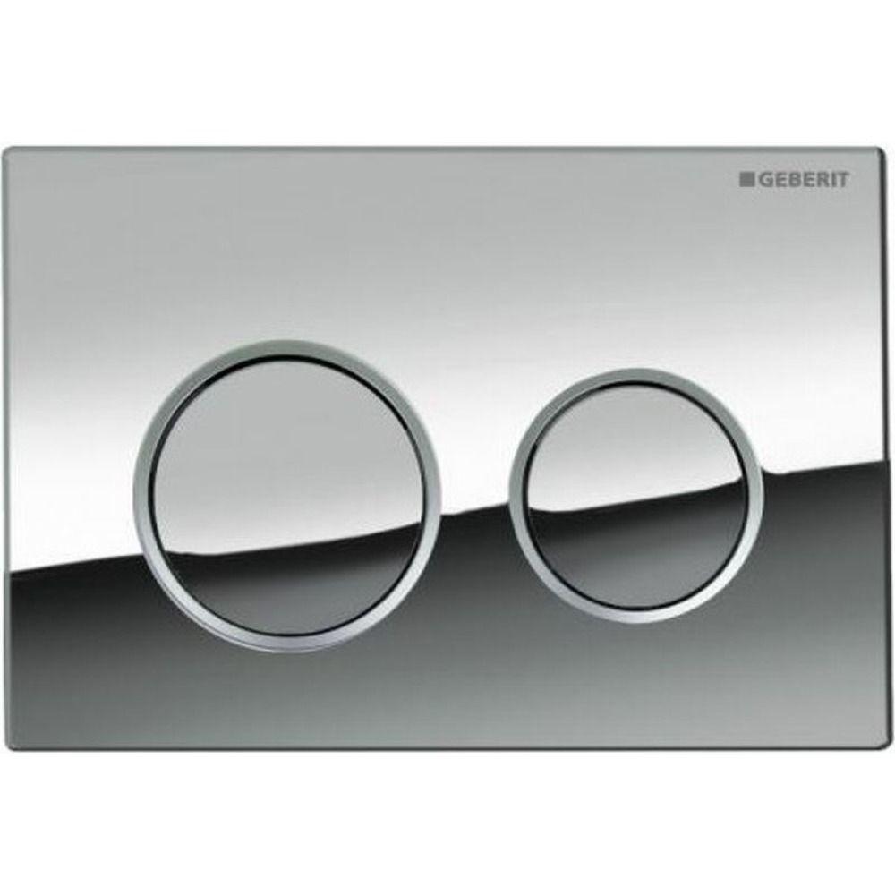 Geberit Omega20 bedieningsplaat Omega20 DF kunststof 21.2x14.2cm boven/frontbediend glans/mat/glans