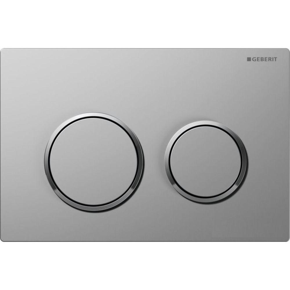 Geberit Omega20 bedieningsplaat Omega20 DF kunststof 21.2x14.2cm boven/frontbediend mat/glans/mat ch