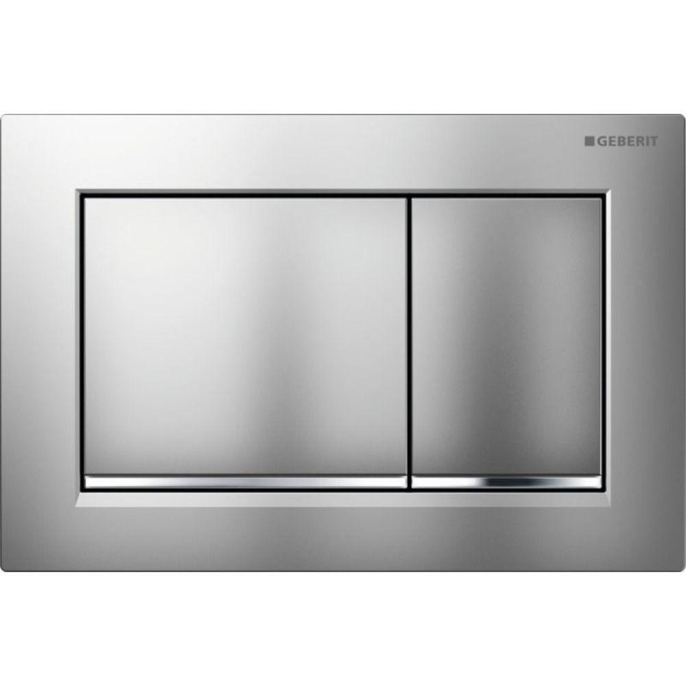 Geberit Omega30 bedieningsplaat Omega30 DF kunststof 21.2x14.2cm boven/frontbediend mat/glans/mat ch