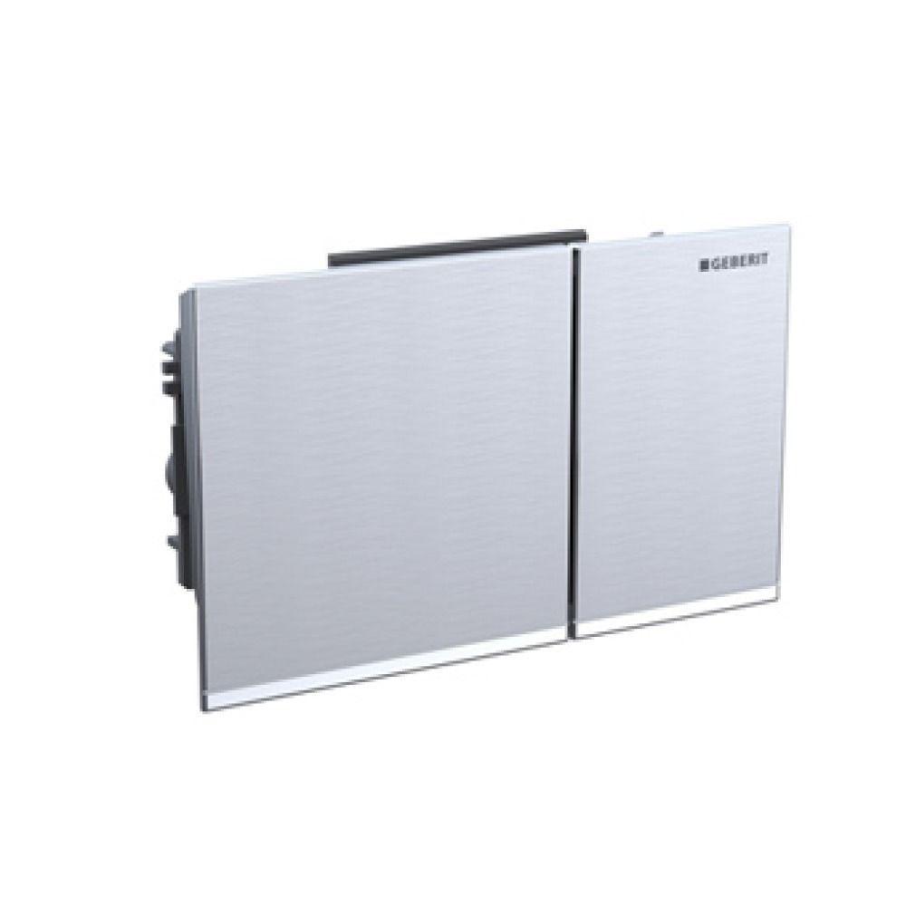 Geberit Omega60 bedieningsplaat Omega60 DF kunststof 18.4x11.4cm frontbediend chroom geborsteld