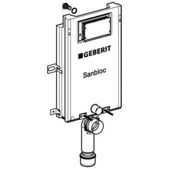 Geberit Sanbloc WC-element wandmodel m. Sigma inbouwreservoir 12cm (UP320) H112cm zonder bedieningsp