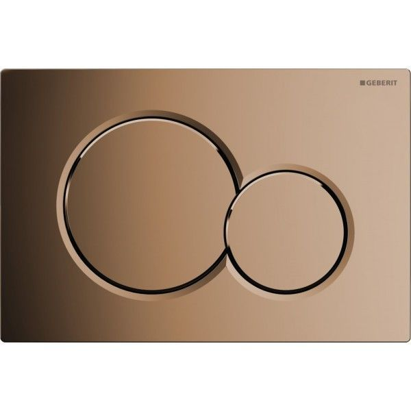 Geberit Sigma 01 bedieningsplaat Sigma 01 DF 24.6x16.4cm t.b.v. UP300/320/700/720 res. edelmessing