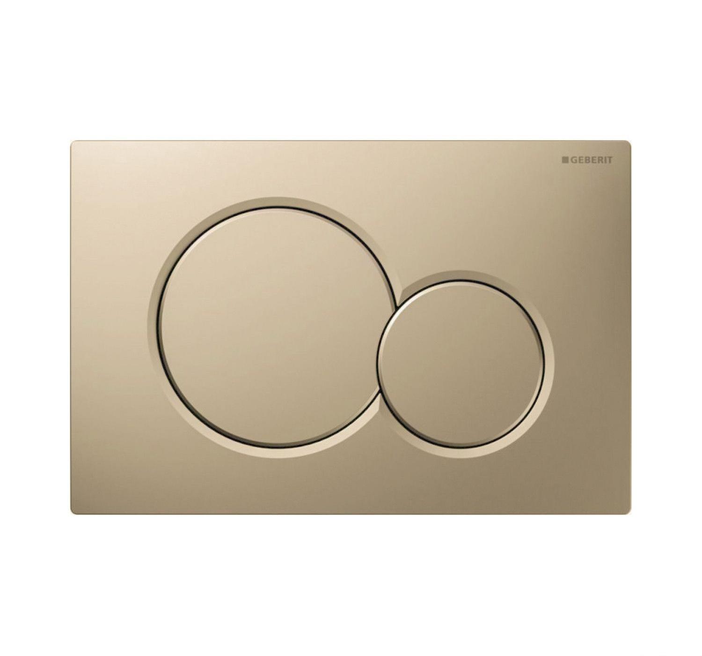 Geberit Sigma 01 drukplaat - bedieningspaneel mat beige