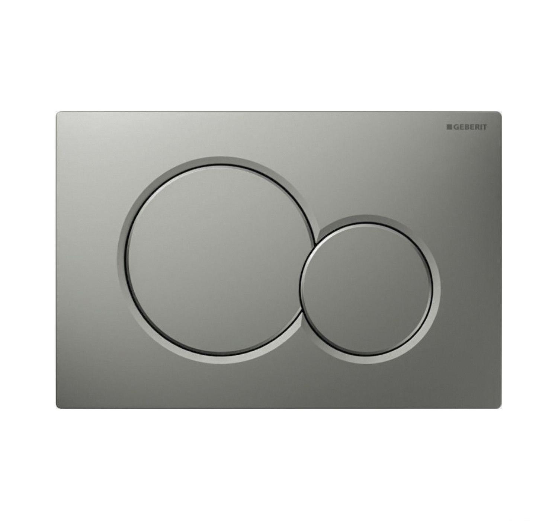 Geberit Sigma 01 drukplaat - bedieningspaneel mat grijs
