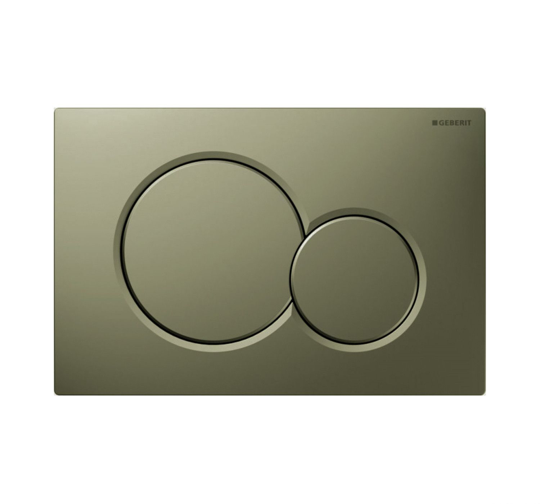Geberit Sigma 01 drukplaat - bedieningspaneel mat legergroen