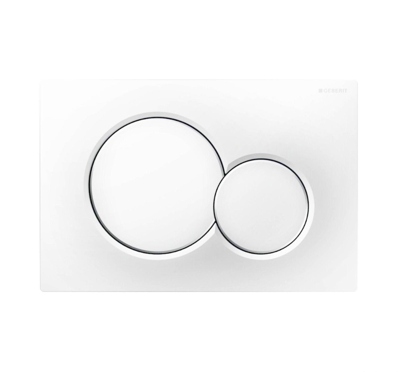 Geberit Sigma 01 drukplaat - bedieningspaneel mat wit
