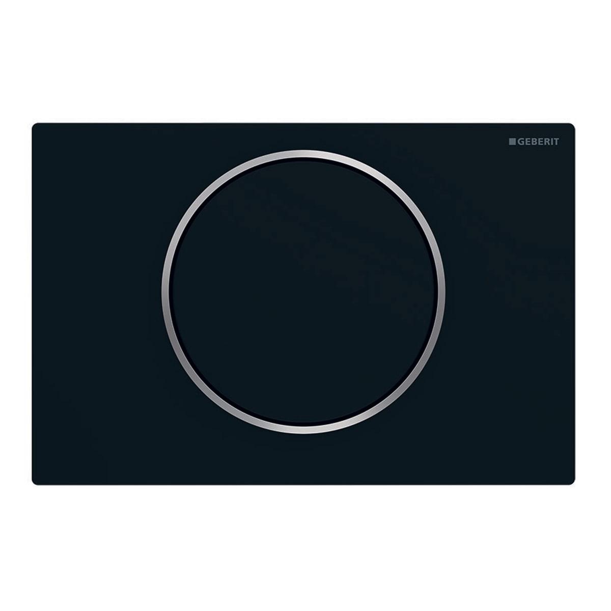 Geberit Sigma 10 bedieningsplaat RVS mat zwart t.b.v. UP300/320/700/720