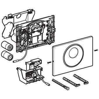 Geberit Sigma 10 WC-stuursysteem Sigma 10 SF electronisch, automatisch, touchfree, batterijv. 24.6x1