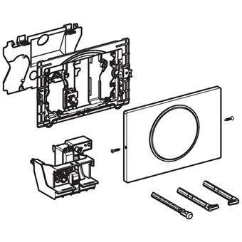 Geberit Sigma 10 WC-stuursysteem Sigma 10 SF electronisch, radiografisch, netvoeding 24.6x16.4cm spo