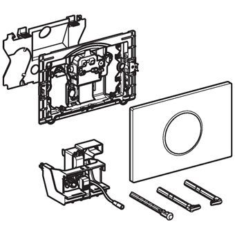 Geberit Sigma 10 WC-stuursysteem Sigma 10 SF electronisch, touchfree, netvoeding 24.6x16.4cm m. infr