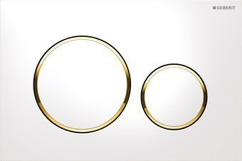 Geberit Sigma 20 bedieningsplaat Sigma 20 DF 24.6x16.4cm t.b.v. Geberit Sigma Up reservoir wit/goud/