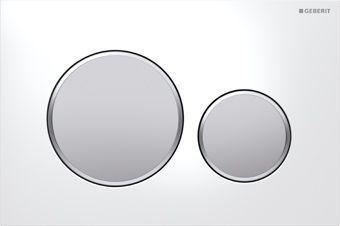 Geberit Sigma 20 bedieningsplaat Sigma 20 DF 24.6x16.4cm t.b.v. Geberit Sigma Up reservoir wit/mat v
