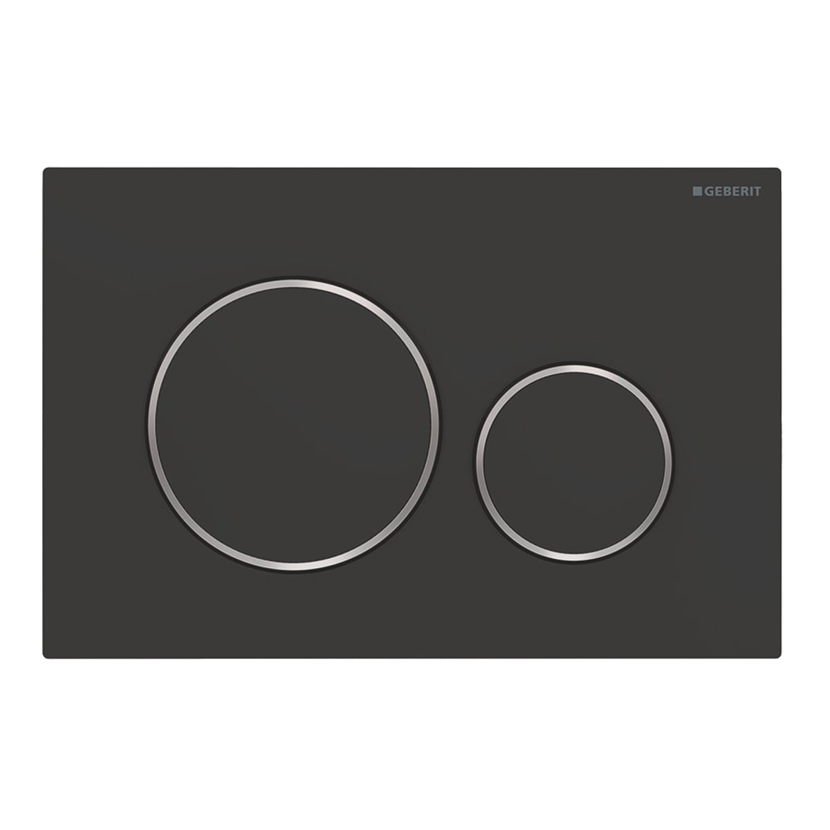 Geberit Sigma 20 drukplaat DF mat zwart t.b.v. Sigma Up reservoir