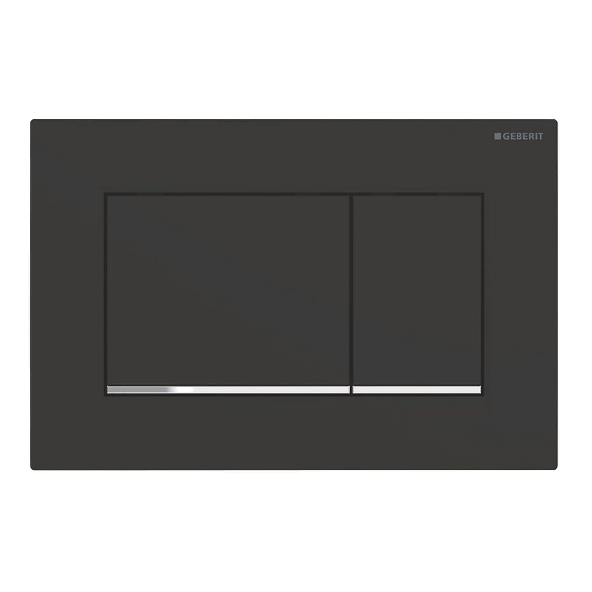 Geberit Sigma 30 drukplaat DF mat zwart t.b.v. Sigma Up reservoir