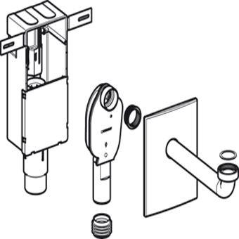 Geberit Uniflex kunststof inbouwsifon m. wandinbouwkast 1 1 4 x32mm voor wastafel