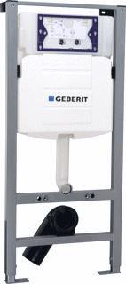 Geberit UP320 toilet inbouwreservoir met Rapotec frame