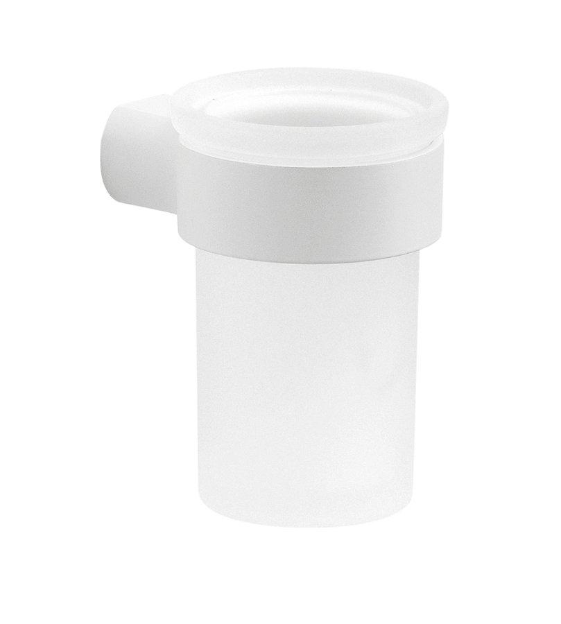 Gedy Pirenei hangende bekerhouder met glas wit