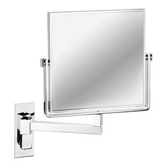 Geesa Mirror scheerspiegel 1-armig normaal 19x19cm en 3x vergrotend chroom