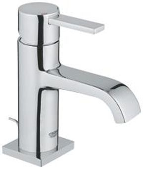 Grohe Allure 1-gats wastafelkraan m. lage uitloop m. waste EcoJoy chroom