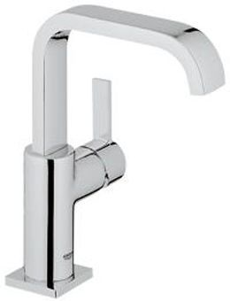 Grohe Allure 1-gats wastafelkraan m. U uitloop m. gladde body EcoJoy chroom