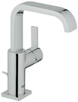 Grohe Allure 1-gats wastafelkraan m. U uitloop m. waste chroom