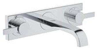 Grohe Allure afbouwdeel v. 3-gats wandkraan sprong=180mm bovendelen 90° chroom