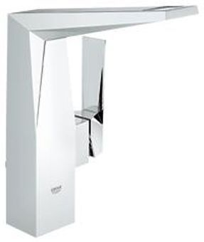 Grohe Allure Brilliant 1-gats wastafelkraan hoge uitloop m. waste chroom