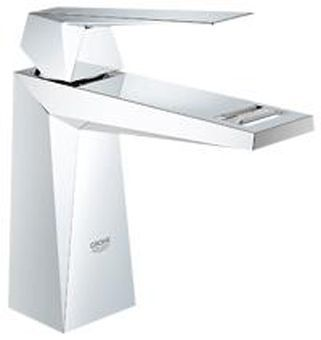 Grohe Allure Brilliant 1-gats wastafelkraan m. gladde body chroom