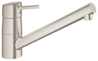 Grohe Concetto 1-gats keukenkraan m. lage uitloop steel