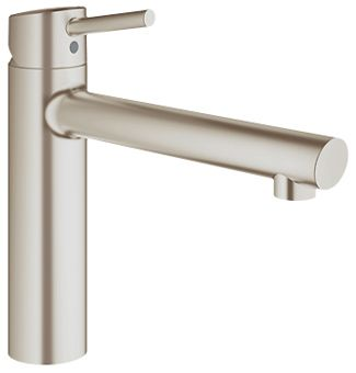Grohe Concetto 1-gats keukenkraan m. medium uitloop steel
