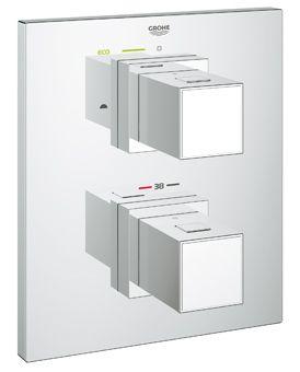 Grohe Cube afbouwdeel v. inbouw badkraan thermostatisch m. omstel chroom