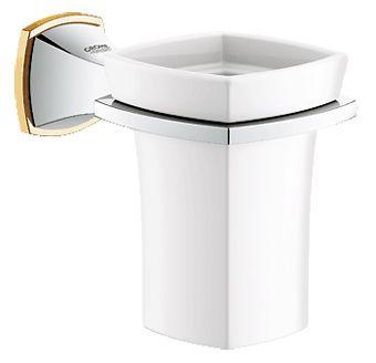 Grohe Grandera glas met houder chroom/goud